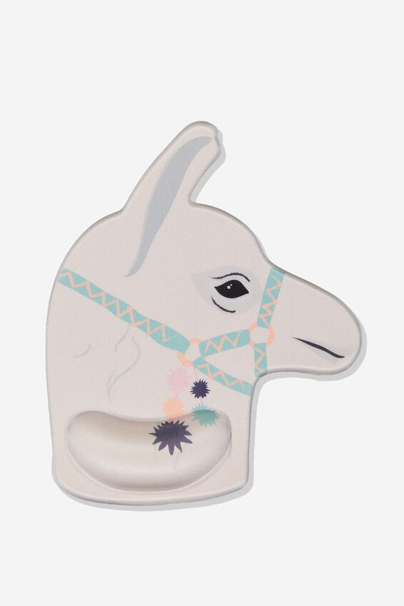 Shaped Wrist Support Mouse Pad, LLAMA