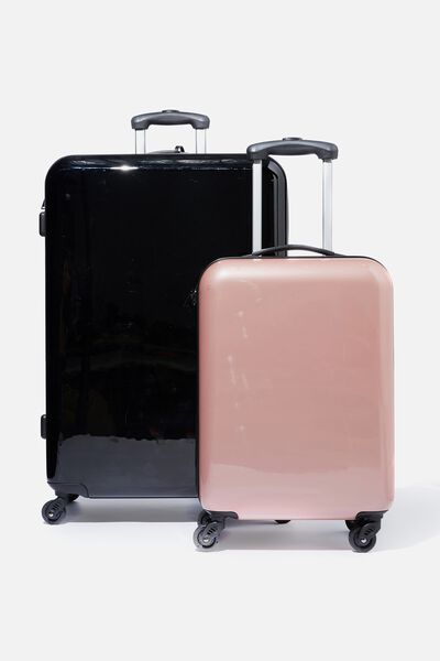 Suitcase Luggage Set, BLACK AND ROSE GOLD