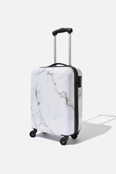 Tsa Small Suitcase, WHITE MARBLE