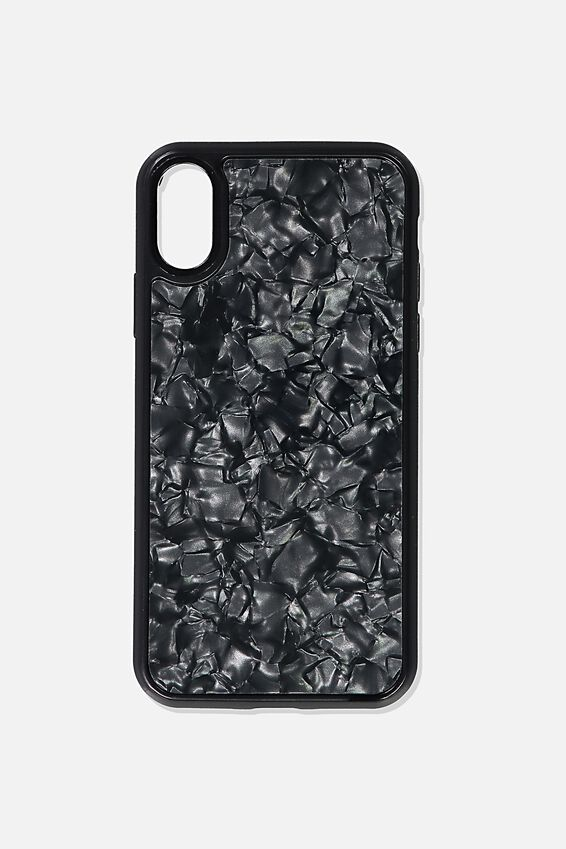 Snap On Protective Phone Case X, Xs, BLACK PEARL