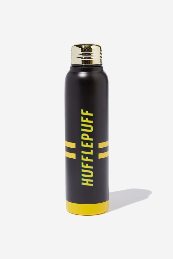 Harry Potter Premium Small Metal Drink Bottle, LCN WB HUFFLEPUFF