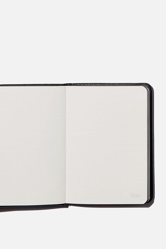 A6 Buffalo Dot Journal, BLACK