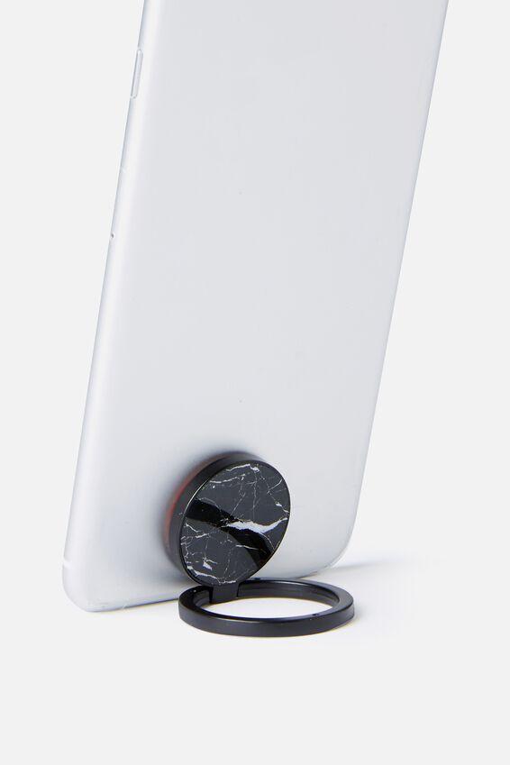 Metal Phone Ring, BLACK MARBLE