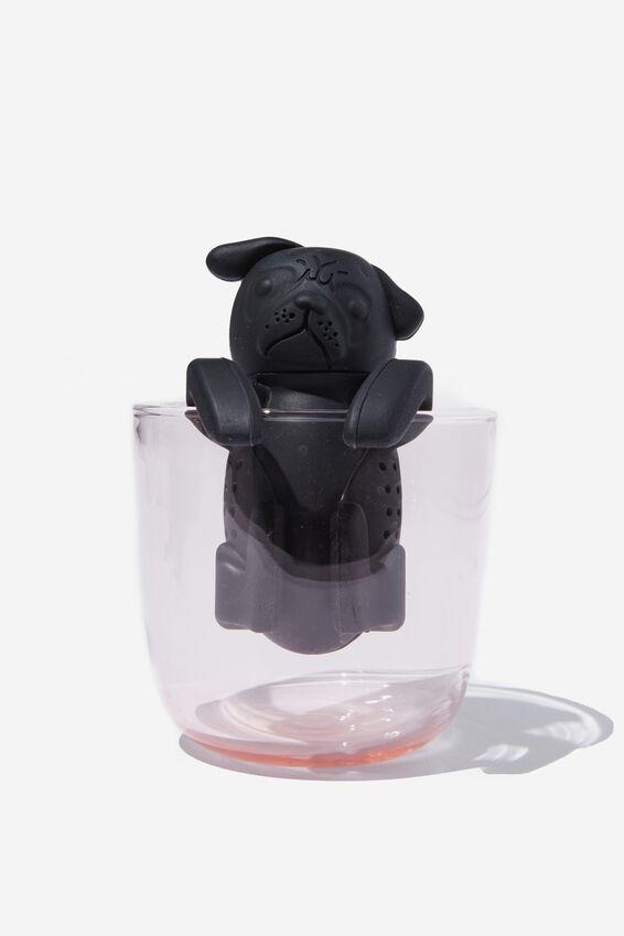 Novelty Tea Infuser, PUG BLACK