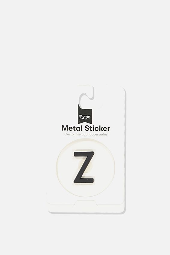 Metal Stickers, BLACK Z