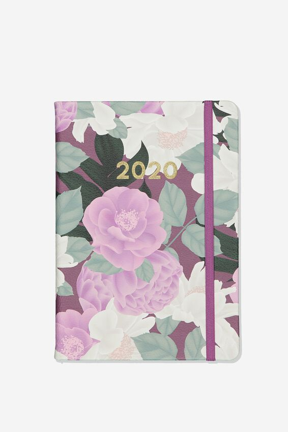 2020 A5 Weekly Buffalo Diary, LILAC FLORAL