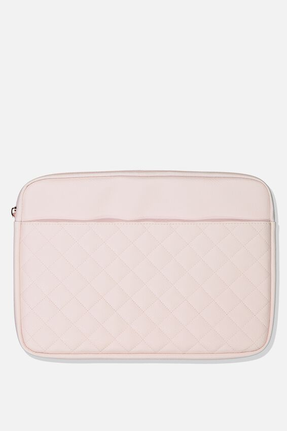 Take Charge Laptop Cover 13 inch, BLUSH QUILTED DIAMONDS