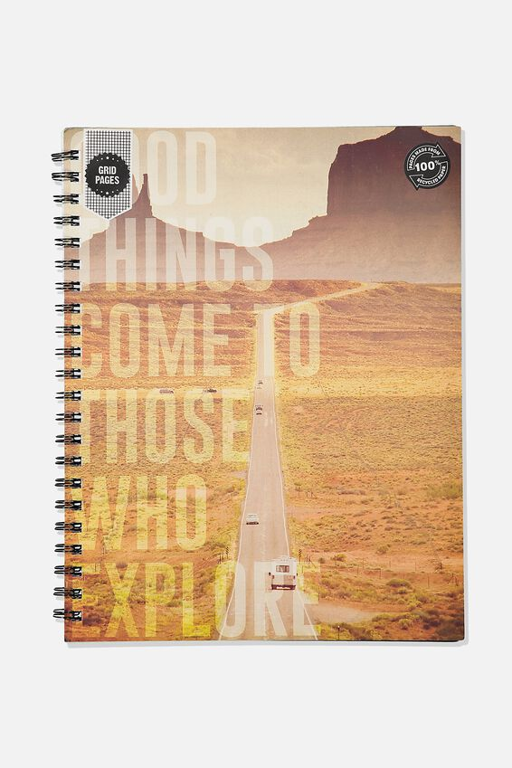A4 Campus Notebook Grid Internal Recycled, GOOD THINGS