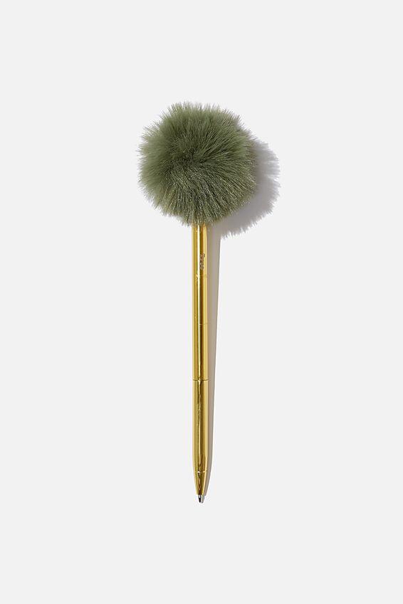 Fluffy Pen, KHAKI