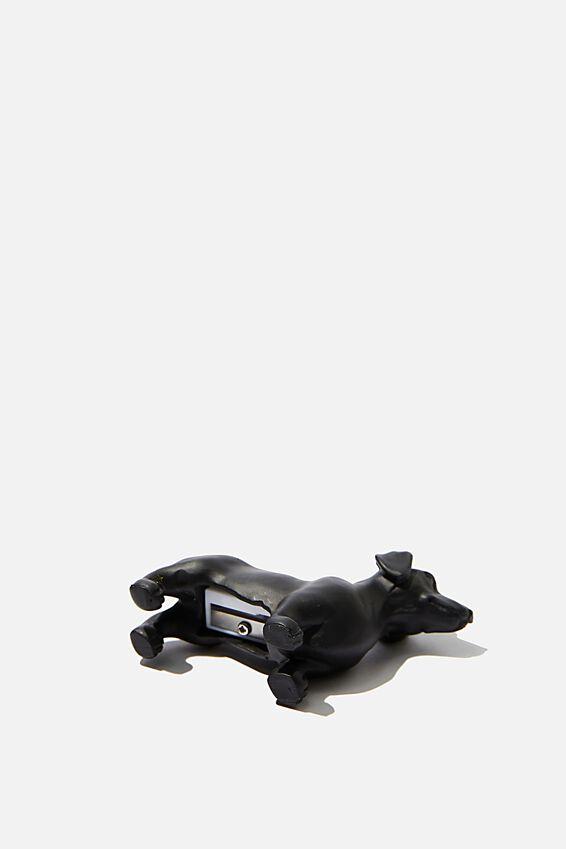 Resin Pencil Sharpener, MATTE BLACK DACHSHUND