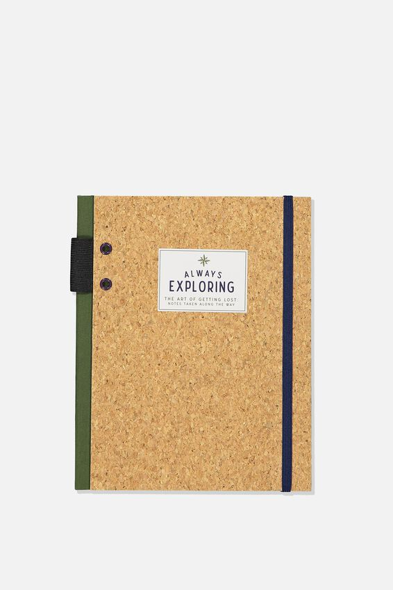 Explorer Notebook, ALWAYS EXPLORING CORK