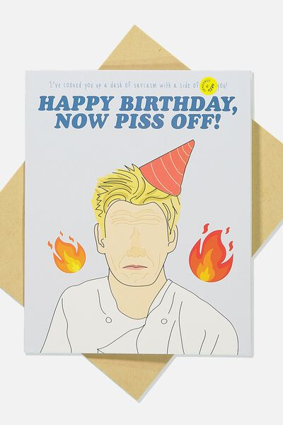 Cards With Personality, PISS OFF BIRTHDAY