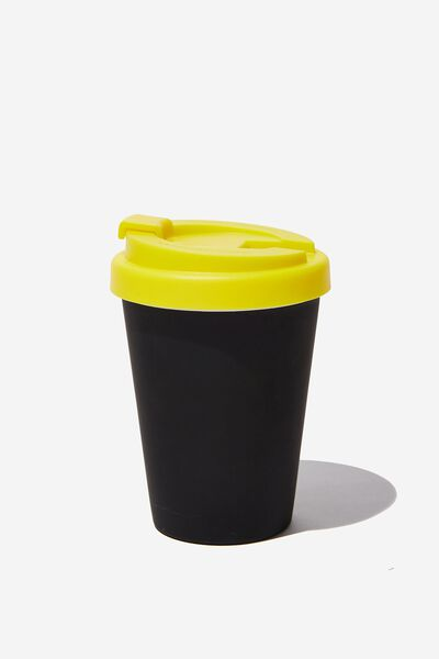 Take Me Away Mug, BLACK RUBBER/NEON