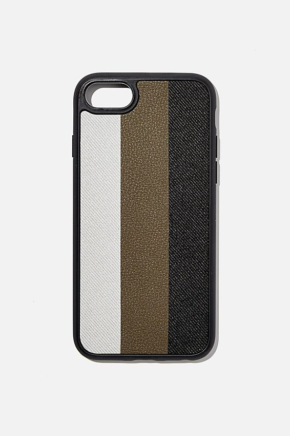 Snap On Protective Phone Case SE, 6, 7, 8, EARTH STRIPES