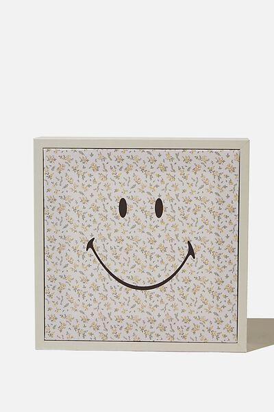 24 X 24 Mini Canvas Art, LCN SMI SMILEY FLORAL
