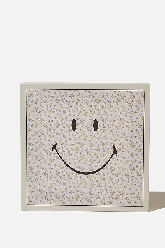 24 X 24 Smiley Mini Canvas Art, LCN SMI SMILEY FLORAL