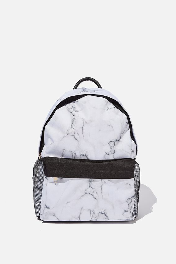 Fundamental Backpack, WHITE MARBLE