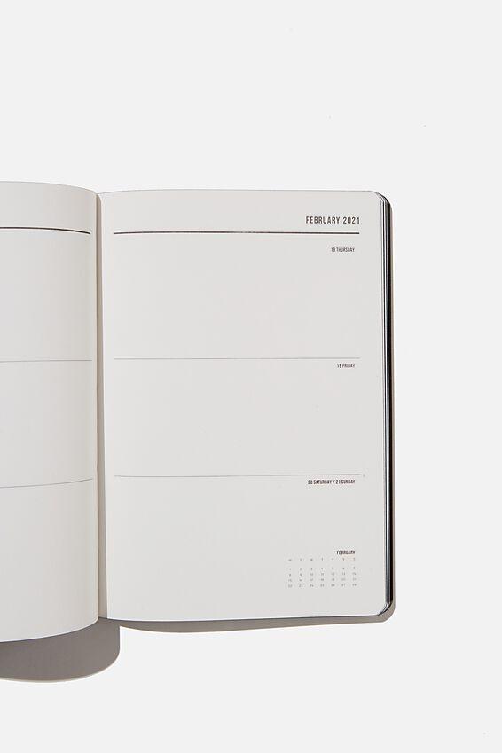 2021 Soft A5 Weekly Buffalo Diary, JET BLACK