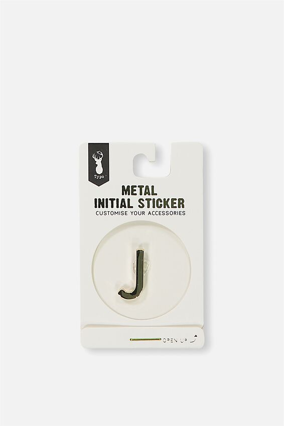 Metal Stickers, GOLD J