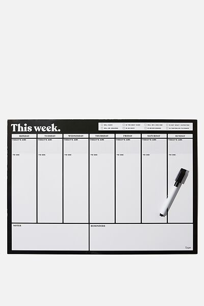 A3 Magnetic Planner, BLACK THIS WEEK