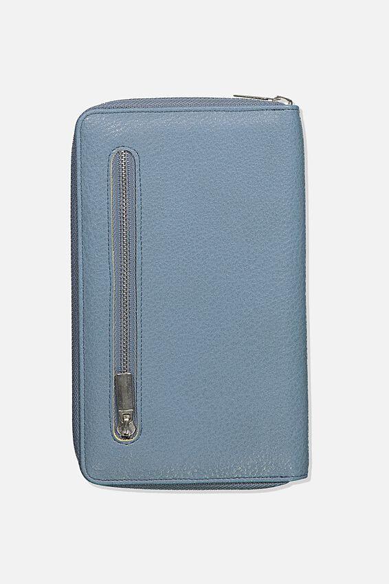 Rfid Odyssey Travel Compendium Wallet, PETROL BLUE MIX