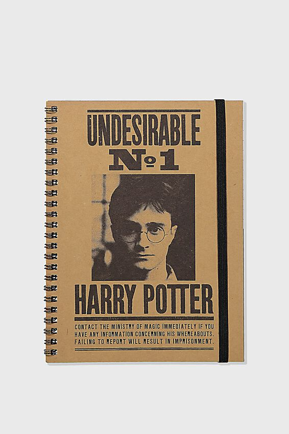A5 Harry Potter Spinout Notebook Recycled, LCN WB HPO UNDESIRABLE