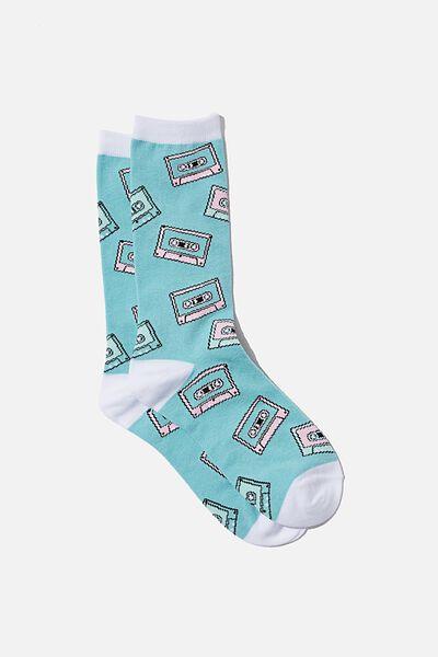 Womens Novelty Socks, CASSETTES
