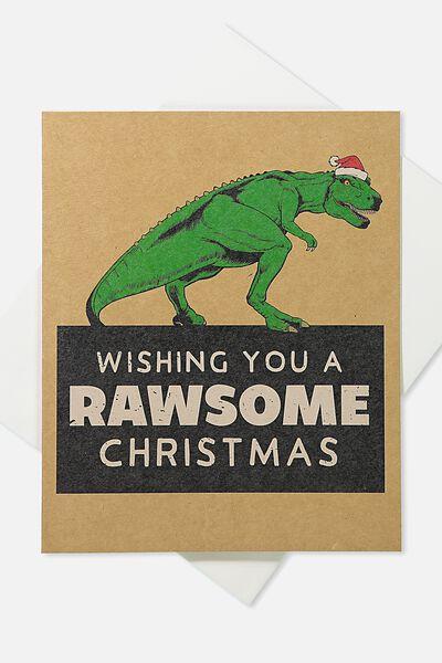 2018 Christmas Card, POP UP RAWESOME CHRISTMAS