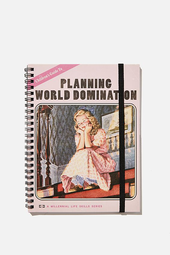 A5 Spinout Notebook Recycled, PLANNING WORLD DOMINATION BOOK
