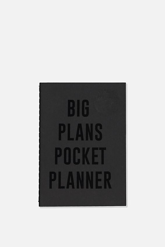 The Mini Undated Monthly Diary, BLACK BIG PLANS
