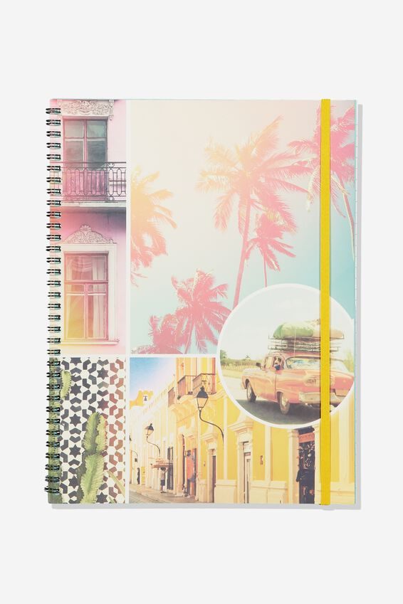 A4 Spinout Notebook - 120 Pages, PALM SPRINGS
