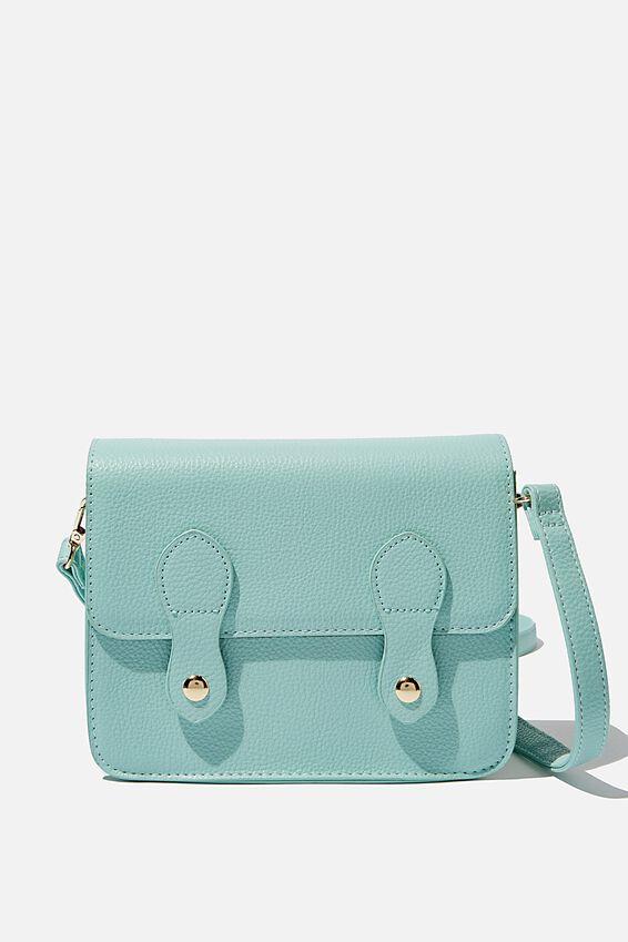 Mini Buffalo Satchel Bag, SOFT MOSS