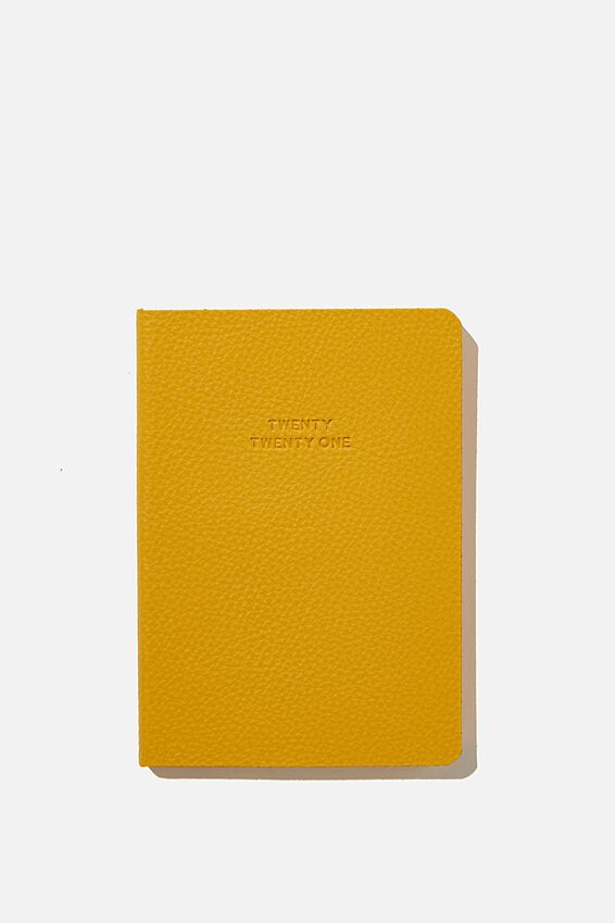 2021 Soft A6 Weekly Buffalo Diary, MUSTARD