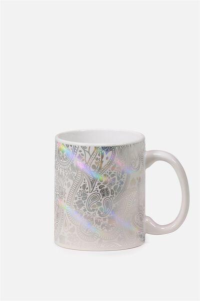 Anytime Mug, HOLOGRAPHIC LACE