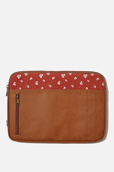 Take Charge Laptop Cover 13 inch, MID TAN W FLORENCE FLORAL
