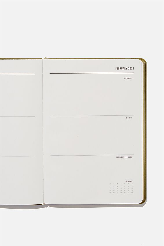 2021 A5 Weekly Buffalo Diary, KHAKI