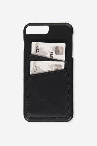 The Cardholder Phone Cover 6,7,8 Plus, BLACK