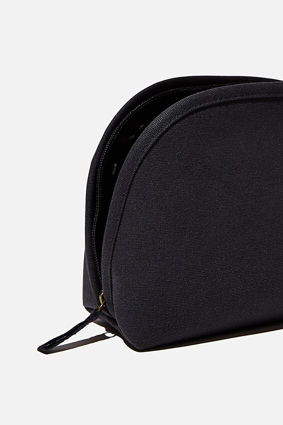 Canvas Essential Pouch, WASHED BLACK