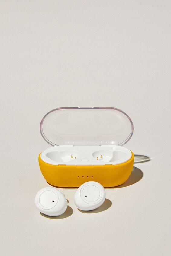 Wireless Earbuds, MUSTARD