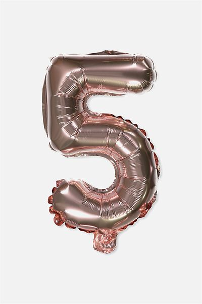 Foil Number Balloons, ROSE GOLD 5