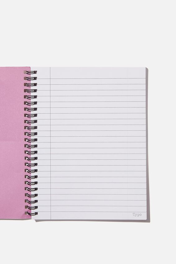 A5 Spinout Notebook Recycled, SOUR CHERRY CAN