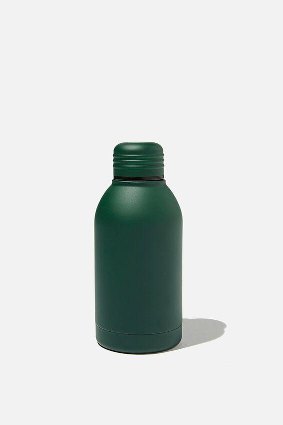 Mini Metal Drink Bottle, DEEP GREEN