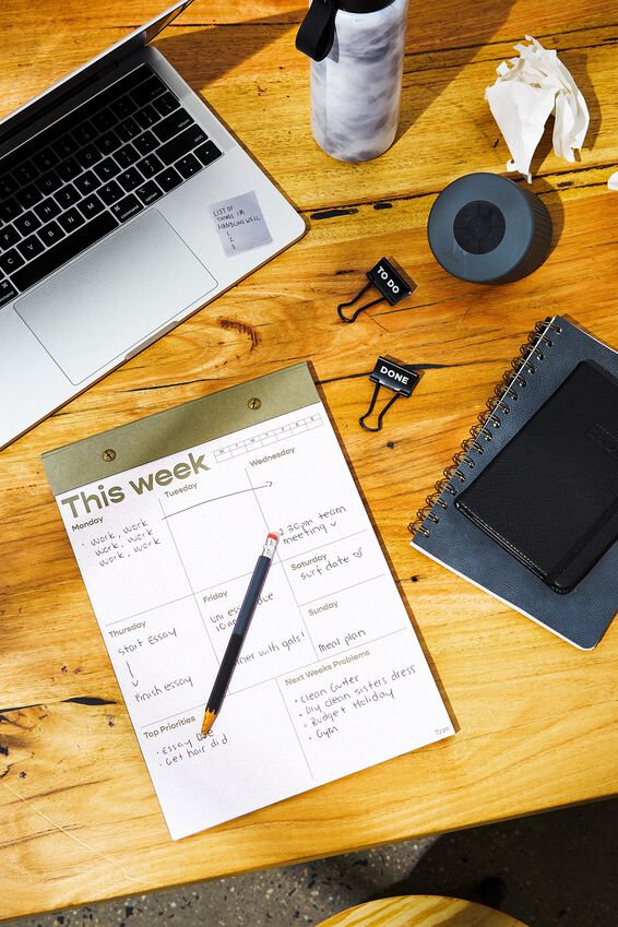 A4 Desk Planner, THIS WEEK