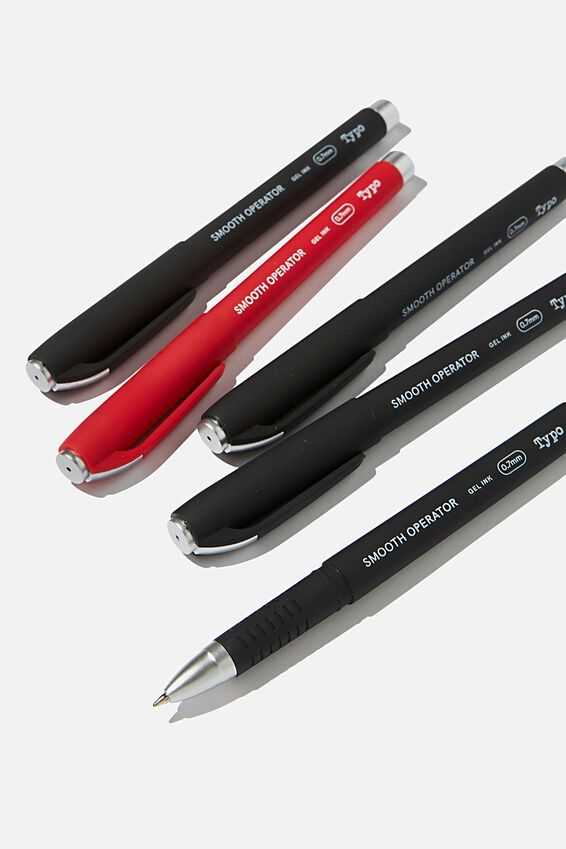 Smooth Operator 5Pk, BLACK AND RED