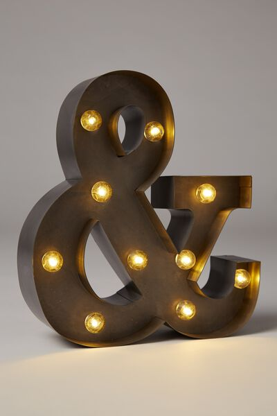 Small Marquee Letter Lights 23cm, SILVER &