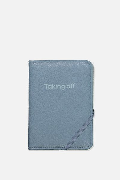 Rfid Passport Holder, PETROL BLUE MIX