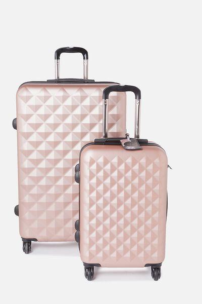 Suitcase Luggage Bundle, ROSE GOLD & FLORAL