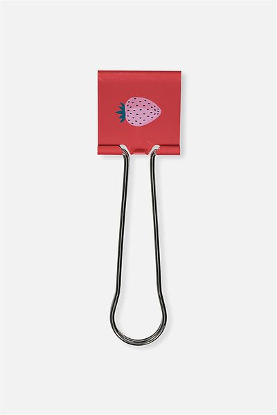 Giant Bulldog Clip, RED STRAWBERRY
