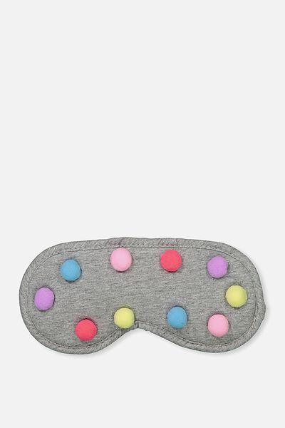 Premium Eye Mask, POM POM APLIQUE