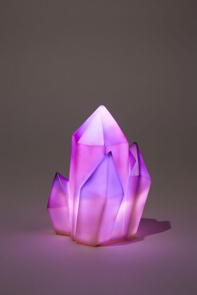 Small Novelty Light, PURPLE CRYSTALS